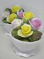 2 kl. Rosen Bouquets im Topf Porzellan Coalport England H7,5cm
