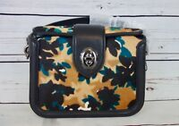 NEW COACH Scatter Leaf Printed Haircalf Page Crossbody #38447 MSRP $695