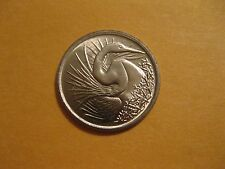 """1974 Singapore coin """" Great White Egret"""" Uncirculated beauty animal bird"""
