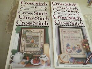 Cross Stitch and Country Crafts Magazine Lot 11 Magazines VINTAGE 1986-1988