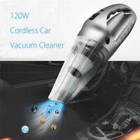 120W Mini Cordless Car Home Vacuum Cleaner Rechargeable Wet & Dry Cleaning Tool