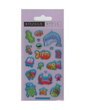 Paper Projects SEA CREATURES Reusable Puffy Craft Stickers