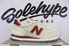 NEW BALANCE 995 MADE IN USA PIG SUEDE ANGORA TAN OFF WHITE RED M995CJB SZ 9