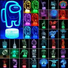 3D illusion Night Light LED Desk Lamp Color Change  ▪  Among Us Party Decors