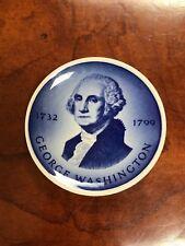Royal Copenhagen Denmark Mini Plate or small Plaque - President Washington Blue