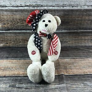"""PBC Chantilly Uncle George Patriotic Bear """" AMERICA THE BEAUTIFUL"""" 19"""""""
