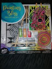 Painting Bliss Deluxe Art Kit With a Wooden Tabletop Easel