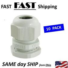 PG 13.5 White Waterproof Connectors Cable Glands - 10 PACK