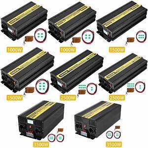 VEVOR Inverter Onda Sinusoidale Pura Invertitore 12V 230V 1KW 1.5KW 2.5KW 3.5KW