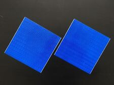 High Intensity Vinyl Reflective Tape Self adhesive Blue Two Pieces(150mmx150mm)