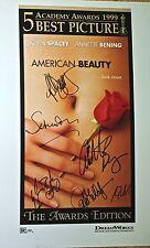 Sam Mendes, Annette Bening, Allison Janney, Wes Bentley, Sam Robards, Peter sign