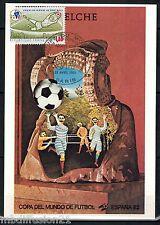 1982//**FDC.CP 1°JOUR**COUPE DU MONDE-FOOTBALL-ELCHE.1982**TIMBRE Y/T 2209