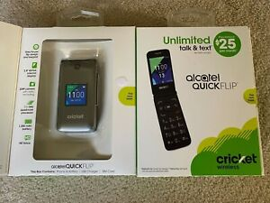 Alcatel QUICK FLIP cricket wireless UNLOCKED WORLDWIDE Flip Phone