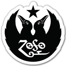 """Led Zeppelin Black Crowes ZOSO Vynil Car Sticker Decal  -4 Pack  2"""""""