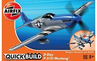 AIRFIX® QUICK-BUILD D-DAY MUSTANG P-51D MODEL AIRCRAFT KIT WW2 MODEL PLANE J6046