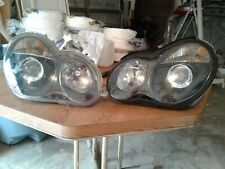 C 230 Mercedes Benz C Class 2007 +..Headlight Headlamp Set  Right & Left