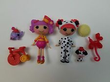 Mini LalaLoopsy Doll Set Sillly Fun House Peanut and Ember, Pack of 2
