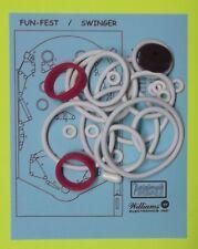 1973 Williams Fun Fest / Swinger pinball rubber ring kit