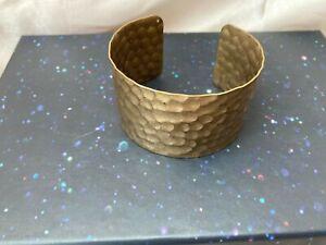 Hammered Brass Saddle Cuff Bracelet Boho Hippie Festival statement staple piece
