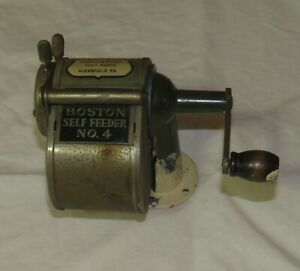 ANTIQUE BOSTON SELF FEEDER NO 4 PENCIL SHARPENER WALL OR TABLE TOP KURTS BROTHER