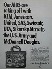 12/1970 PUB HAMILTON STANDARD AIDS AIRBORNE COMPUTER UTA SAS UNITED KLM ARMY AD