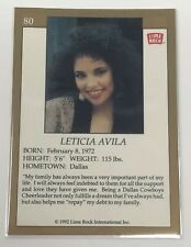1992 Lime Rock Pro Cheerleaders Leticia Avila #80