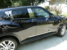 Fit:2011-2017 Nissan Juke 10Pc Chrome Pillar Post Stainless Steel Trim