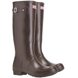 W23499 Hunter Original Tall Rain Boot Brown Chocolate 11 M 12 F 44 EU Wellington