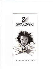 1999 Swarovski Crystal Jewelry Pamphlet Crystal Jewelry