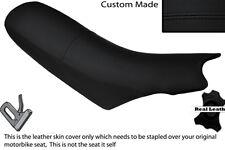 BLACK STITCH CUSTOM FITS KTM 640 LC4 01-04 DUAL LEATHER SEAT COVER