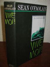 1st Edition VIVE MOI! Sean O'Faolain AUTOBIOGRAPHY 2nd Printing MEMOIR Classic