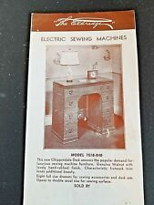 1940s Eldredge Treadle Sewing Machine Pamphlet National Sewing Machine Co