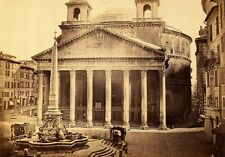 Italy - Rome - The Pantheon. c 1857-60.  12 x 16 inches.