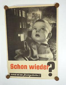 Plakat SMAD Schon wieder ? Schluß mit der Kriegshetze ? wohl Heartfield um 1945