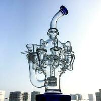 Octopus Arms Glass Bongs Matrix Perc Recycler Glass Bong Unique Water Pipes
