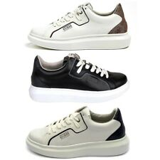 GUESS SALERNO SCARPE VERA PELLE SNEAKERS UOMO SHOES RUN TEMPO LIBERO FM6SALFAL12