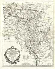 1776 Santini Map of Lithuania and Belarus