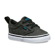 Vans Toddlers Shoes - Atwood Slip-on (Textile) Black Hawaiian Ocean Skate Size 6