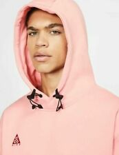Nike ACG Men's Pullover Fleece Hoodie XS Coral Pink Gym Casual Training Lounge
