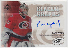 2005 05-06 Upper Deck Ice Glacial Graphs #GGCW Cam Ward Auto