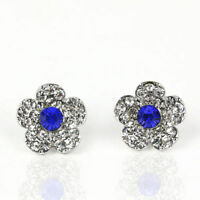 925 Silver Crystal Daisy Flower Bee Ear Studs Earrings Women Wedding Jewelry UK