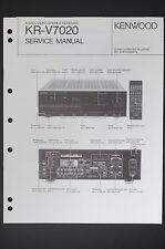 Kenwood Kr-v7020 Original Av Stereo Receiver Service Manual/Circuit Diagram O14