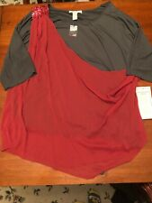 Roamans Plus Size Sheer Wrap sequined Top Size 26W NEW