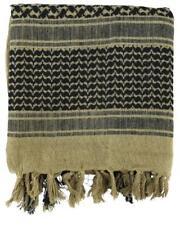 Sable & Noir Armée SAS du désert coton Shemagh Arabe écharpe foulard keffieh
