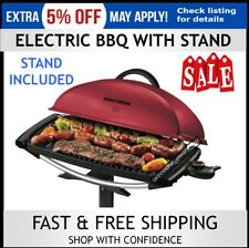 Electric Grill BBQ George Foreman Indoor Outdoor Barbecue with Stand Benchtop