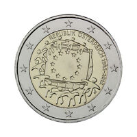 "Austria 2 Euro commemorative coin 2015 ""30 Years of EU Flag"" UNC"