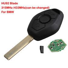 Keyless Remote Entry Key Fob Replacement HU92 For BMW E46 E38 433 315