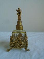 Vintage Guilded Ornamental Greco / Roman Perfume Bottle Cupid