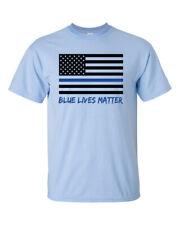 Blue Lives Matter American Flag Thin Blue Line Short Sleeve T-shirt