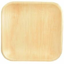 25 Plates Made of Palm Leaf Disposable Dish Camping Party BBQ Picnic Compostable